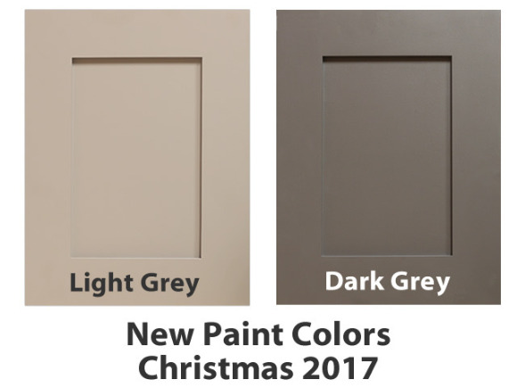 Get ready we are launching two new paint colors to our cabinet line! Enjoy a new light grey and a new dark grey paint color for your next cabinet project.