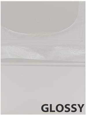 Glossy Light Grey Laminate Door