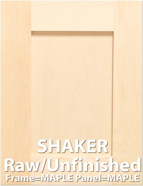 Shaker Maple Sample Cabinet Door