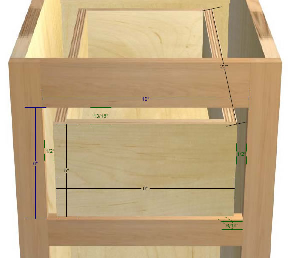 drawer guide spacing